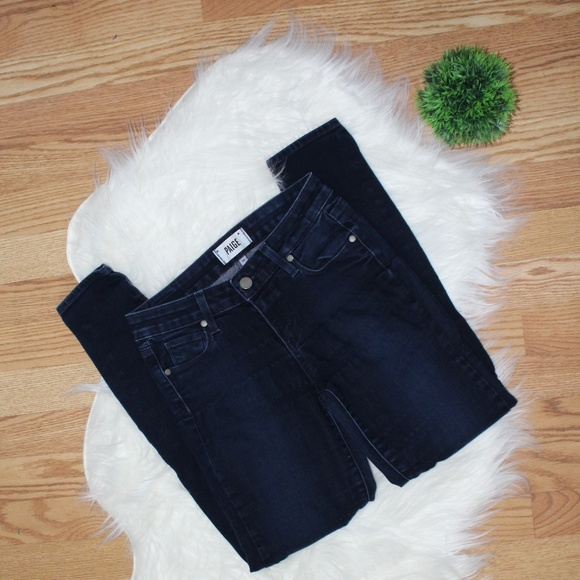 Paige Dark Wash Verdugo Ankle Jeans 26